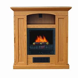 Riverstone Industries Electric Fireplace Heater Oak Gel Fuel Fireplaces