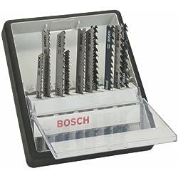 Bosch Pro 10tlg. Stichsägeblatt-Set Robust Line Wood Expert zum Sägen in Holz