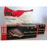 LU Cookies Le Petit Ecolier The Little Schoolboy, Milk Chocolate Smores Kit Bundle