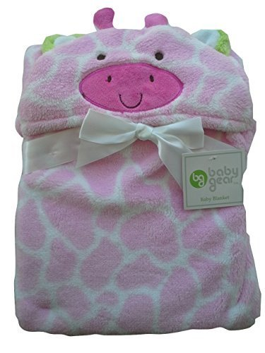 Cutie Pie Baby Baby-Girl's Hooded Character Boa Blanket, Pink White, 30 Inches X 30 Inches - 1