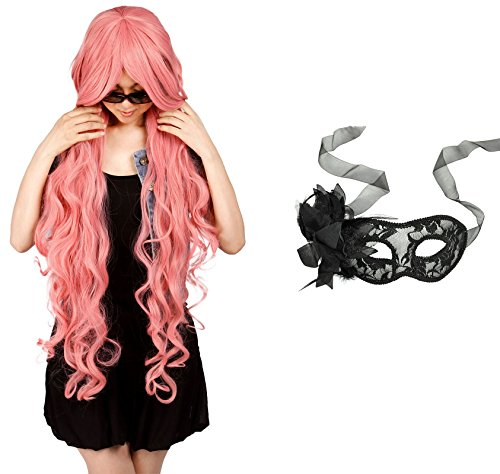 Simplicity Bundle Long Wig & Lace Mask, Halloween Gift for Women
