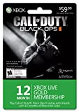 Xbox LIVE 12 Month Gold Membership for Black Ops II [Online Game Code]