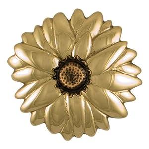 """5""""W x 2""""D x 5""""H Michael Healy Sunflower Door Knocker, Brass with Bronze Center"""