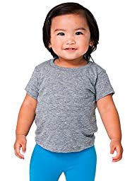 American Apparel Kids Infant Tri-Blend Short Sleeve T-Shirt Size 6-12M Athletic