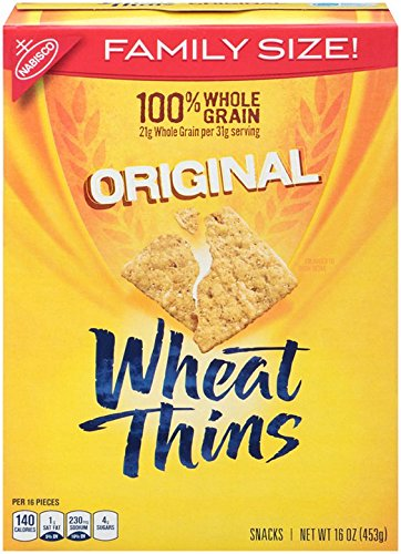 Wheat Thins Original 100% Whole Grain Crackers, 16 Ounce