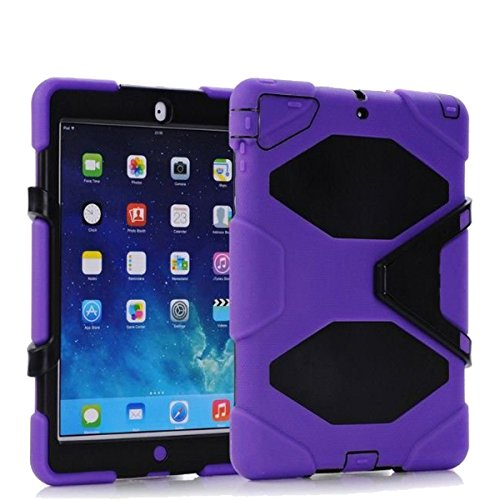 Sudmand High Quality Full Protection Case/Cover For Apple Ipad Air, Pc+ Silica Gel With Removable Stand Case For Ipad Air(Ipad 5) (Purple)