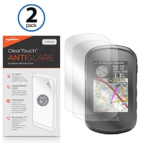 Garmin eTrex Touch 35t Screen Protector, BoxWave® [ClearTouch Anti-Glare (2-Pack)] Anti-Fingerprint Matte Film Skin for Garmin eTrex Touch 35t, Touch 35, Touch 25 (2 35 Screen compare prices)