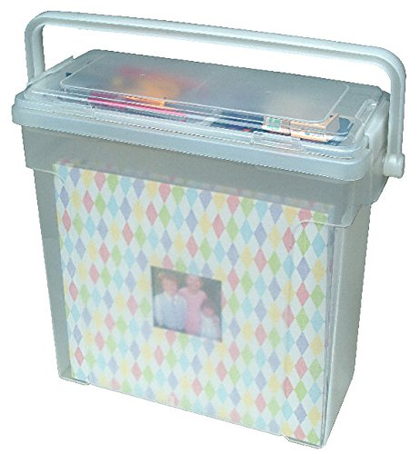 IRIS Portable Scrapbook File Box, Clear (Home Filing Made Easy compare prices)