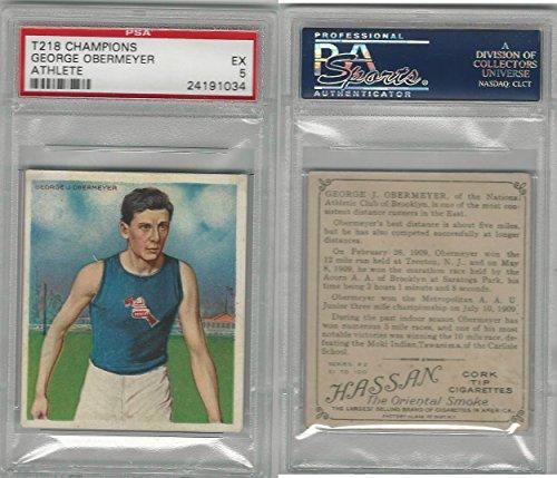 T218 Mecca/Hassan, Champions, 1910, George Obermeyer, Runner, PSA 5 EX