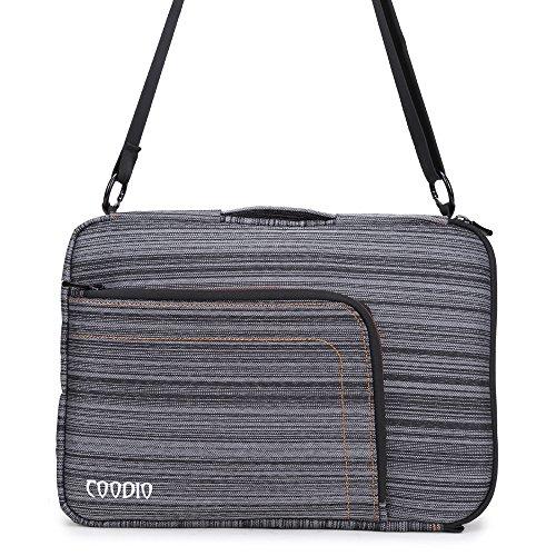 Coodio® ShockProof 30,5-31,8 cm (12-12,5 Pollici) Sleeve Custodia Borsa a tracolla Per PC portatili Apple Il nuovo MacBook 12 - Nero