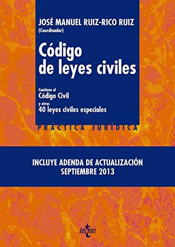 Código De Leyes Civiles. Contiene El Código Civil Y Otras 40 Leyes Civiles Especiales (Derecho - Práctica Jurídica)