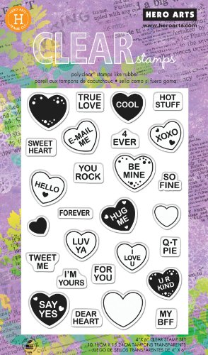 Hero Arts Sweet Hearts Polyclear Stamp Set