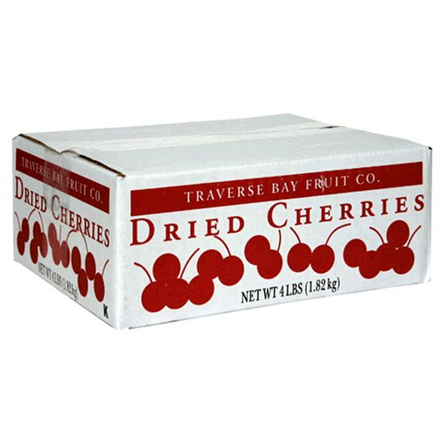 Traverse Bay Dried Cherries, 4-Pound Box
