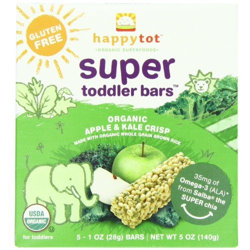Super Toddler Bars Apple And Kale Crisp (Case Of 6) 5 Ounces