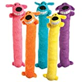 "Loofa Dog 12"" Plush Dog Toy, Colors May Vary"