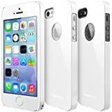 [New Release] RINGKE SLIM Apple iPhone 5 / 5S Case [LF WHITE - Logo Cut-Out] SUPER SLIM + LF COATED + PERFECT FIT Premium Hard Case + Logo Protection Film Included for Apple iPhone 5 / 5S [ ECO Package]