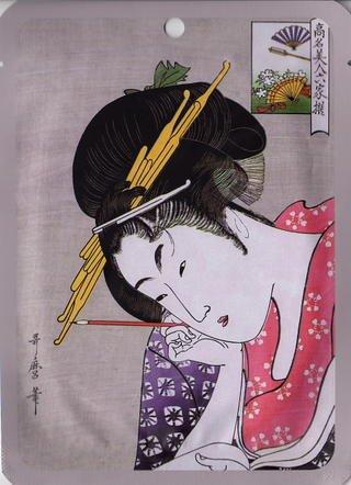 日本マスクパック謹製歌麿ライン アルブチン+江戸紫エッセンスマスク・1シート