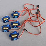 HOSSEN® 5pcs Genuine Mini SG90 Micro 9g Servo For 450 RC Helicopter Airplane Car Boat
