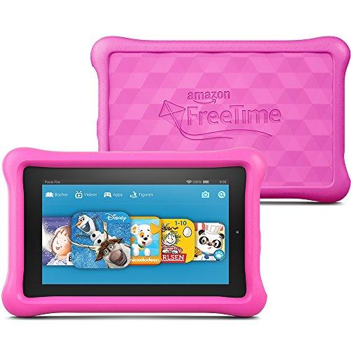 Fire Kids Edition, 17,7 cm (7 Zoll) Display, WLAN, 8 GB, Pink Kindgerechte Schutzhülle