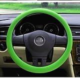 AUDEW ハンドルカバー 軽自動車 車用ステアリング ハンドルカバー コンパクトカー ステアリングカバー ハンドルカバー おしゃれ 軽自動車 グリーン