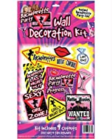 Bachelorette Party Wall Decoration Kit - 9 Piece - Bachelorette Party Supplies
