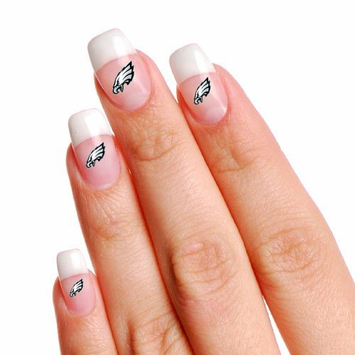 NFL Philadelphia Eagles 4-Pack Temporary Nail Tattoos at Amazon.com