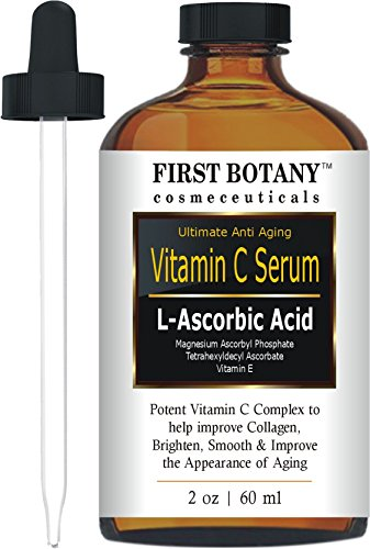Vitamin C Serum with L'Ascorbic Acid - Facial Skin Care & Anti Aging Serum That Helps Skin Brightening, Repair Sun Damage, Fade Age Spots, Dark Circles, Wrinkles & Fine Lines Review - Amazing