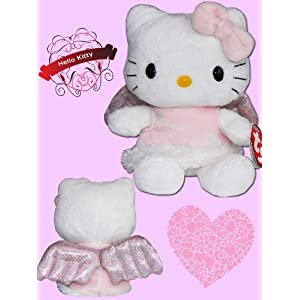 2a9f275ea6e TY Beanie Baby - HELLO KITTY ( PINK ANGEL ) (UK Exclusive)