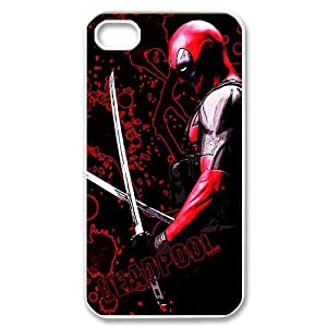 Deadpool_Abstract Snap-on Hard Case Cover Skin Compatible with Apple iPhone 4/4s