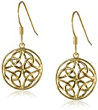 Celtic Knot Round Drop Earrings