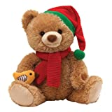 "Gund Fun Christmas Caroling Bear Animated 15"" Plush"