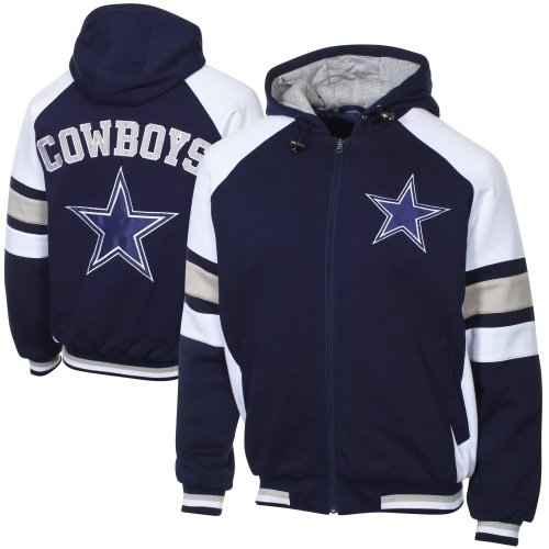 Dallas Cowboys Fleece Hood Full Zip Jacket (NAVY, 2XL) at Amazon.com