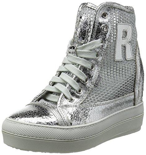 Ruco Line nicy2902 Sneakers Donna Tessuto Glitter Lamè Silver Glitter Lamè Silver 36
