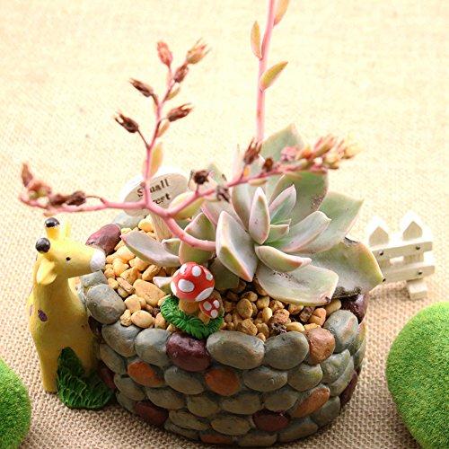 YOURNELO Cute Giraffe Resin Flower Plant Pots Succulent Planters Vase