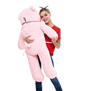 Misscindy Giant Teddy Bear Plush Stuffed Animals for Girlfriend or Kids 47 inch, (Pink) (Color: Pink)