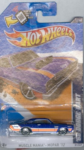 Hot Wheels 2012-081 Muscle Mania '68 Dodge Dart Purple 1:64 Scale On Scan And Track Card