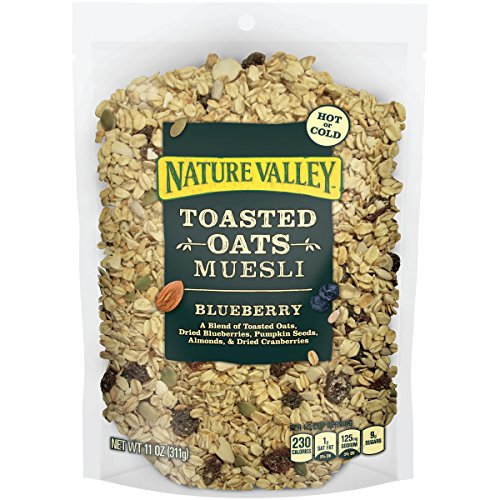 Nature Valley Toasted Oats Muesli, Blueberry, 11 oz (Oven Toasted Oats compare prices)