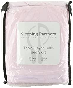 Tadpoles Triple Layer Tulle Bed Skirt, Pink, Full