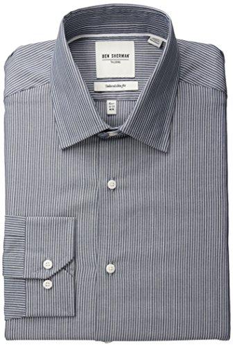 ben-sherman-mens-navy-white-dobby-stripe-blue-16-32-33