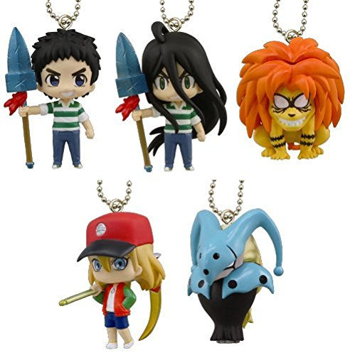 Takara Tomy Ushio and Tora Figure Mascot Set of 5
