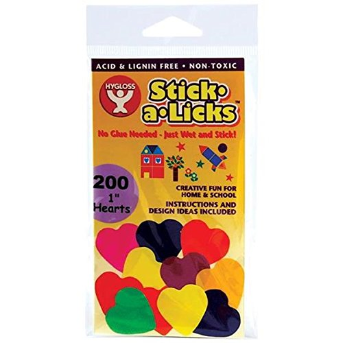 "Stick-A-Licks 200/Pkg-1"" Hearts - 1"