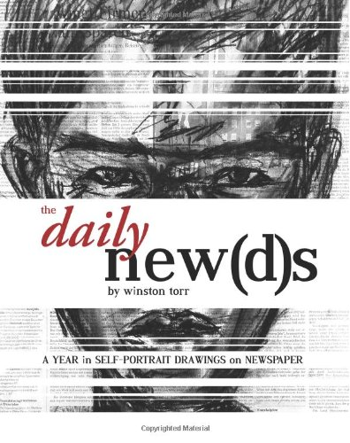 The Daily Newds: A Year in Self-Portrait Drawings on Newspaper