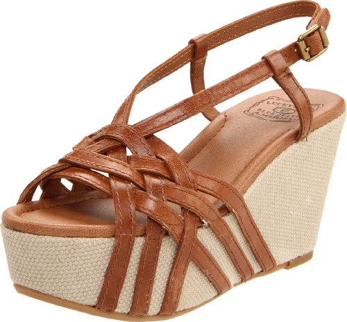 Lucky Women's Stacey Wedge Sandal,Tan,7.5 M US