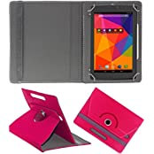 DressMyPhone Premium 360° Smart Leather Rotating Book Cover For Sony Tablet Z (Stand Cover Holder) - Dark Pink