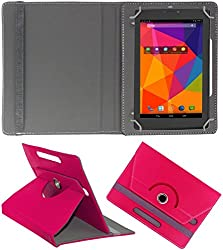 DressMyPhone Premium 360° Smart Leather Rotating Book Cover For Asus Fonepad 7 Fe171cg (Stand Cover Holder) - Dark Pink