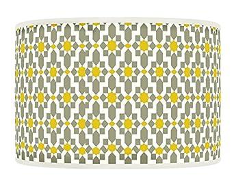 50cm 20 Quot Yellow Mustard Grey Retro Geometric Handmade