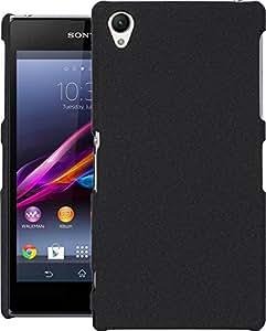 Cubix® Sony Z1 Case, Super Slim Hard Back Cover for Sony Xperia Z1 (Denim Black)