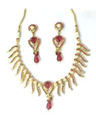 RCJ Gold Brass Necklace Set For Women - B00XN84MPA
