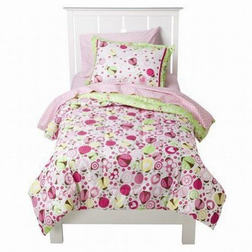 Circo Full Bed In A Bag Lady Bugs Girl Comforter Set Sheets Shams Ladybug 7 Pc front-852306