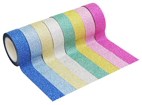 Buy Cheap HipGirl 8 x 4.5yd 5/8 Glitter Sparkle Washi Tape for Christmas Gift Wrapping